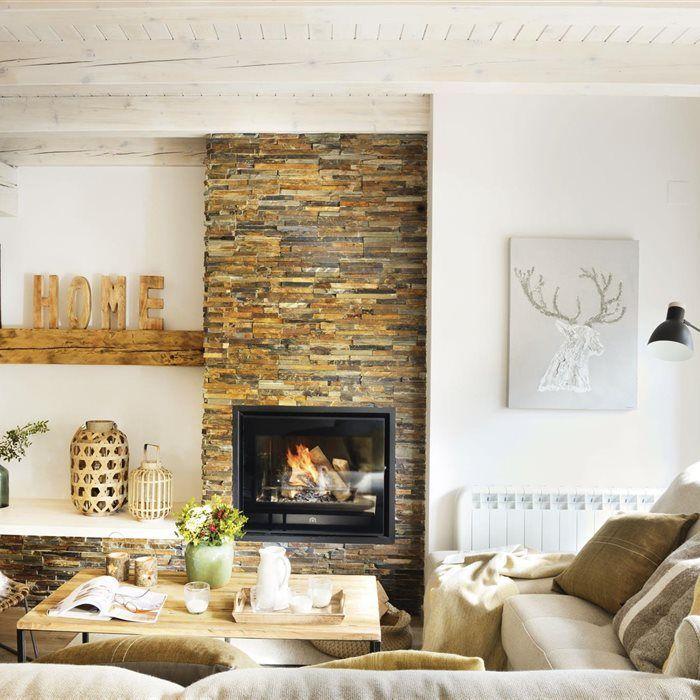 M s de 25 ideas incre bles sobre chimeneas modernas piedra - Chimeneas de ocasion ...