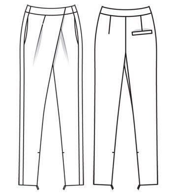 Брюки с глубокими складками у пояса - выкройка № 105 из журнала 11/2011 Burda – выкройки брюк на Burdastyle.ru