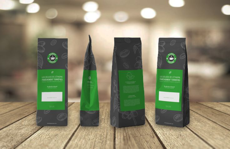 Packaging pour Bunna House - Café ☕ #Packaging #BunnaHouse #Café #Torréfaction #Coffee