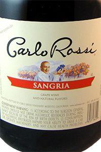 Carlo Rossi Sangria 4L   Sangria from California   Sangria ...