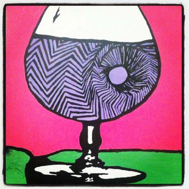 """@slinky_sleer: """"#wine #stoned #trippy #glass"""""""