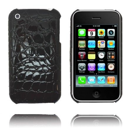 RaptorDeksel (Sort) iPhone Deksel for 3G/3GS lux-case.no