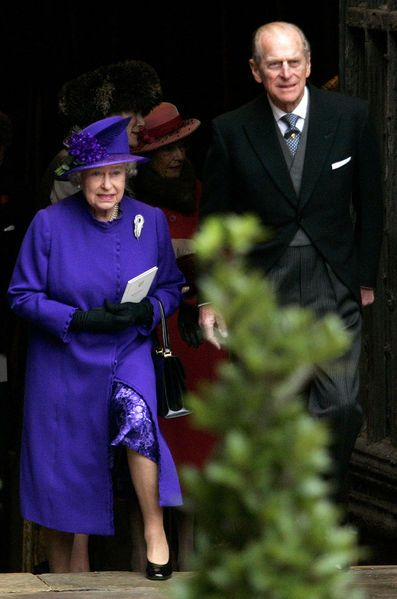La reine Elizabeth II et le prince Philip au mariage de Lady Tamara Grosvenor…