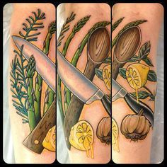 food tattoos - Google Search
