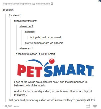 But couldn't the bouncing ball also be considered an apostrophe. Therefore it would be Pet's Mart.