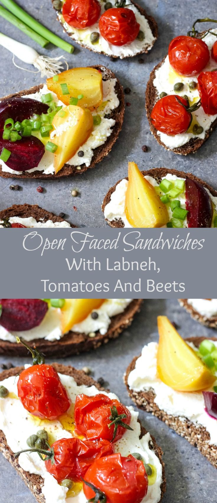 Combination of Lebanese cream cheese, roasted tomatoes and beets makes these…