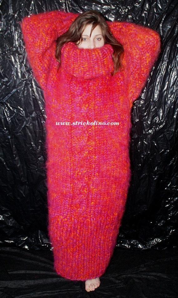 Verwonderlijk 6-8 kg dikke jurk grof gebreide slaapzak Merino schapenwollen BC-39