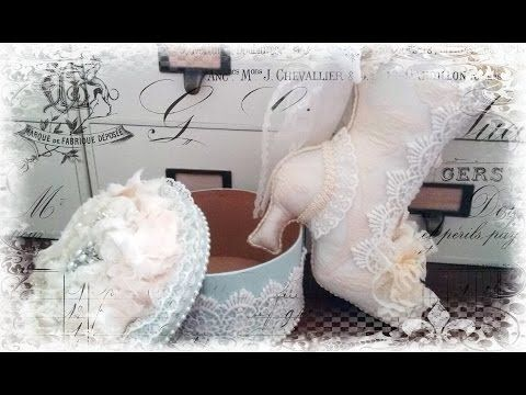 Decorated Shabby Chic Boot Timelapse How To - YouTube