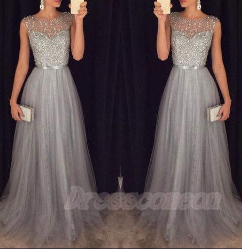 2016 New Arrival Cap Sleeves Beading Prom Dresses,Charming Gray Evening Dresses,A-line Modest Prom Gowns,Long Prom Gowns http://www.luulla.com/product/526799/2016-new-arrival-cap-sleeves-beading-prom-dresses-charming-gray-evening-dresses-a-line-modest-prom-gowns-long-prom-gowns