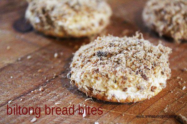Biltong Bread Bites - an old classic favourite snack to serve on a platter [ NYBiltong.com ] #biltong #recipe #flavor