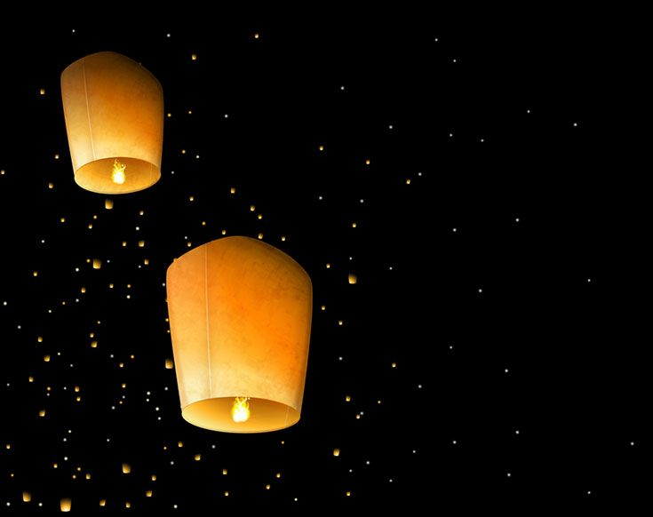 Sky lanterns are the perfect way to celebrate the new year! | Just Artifacts