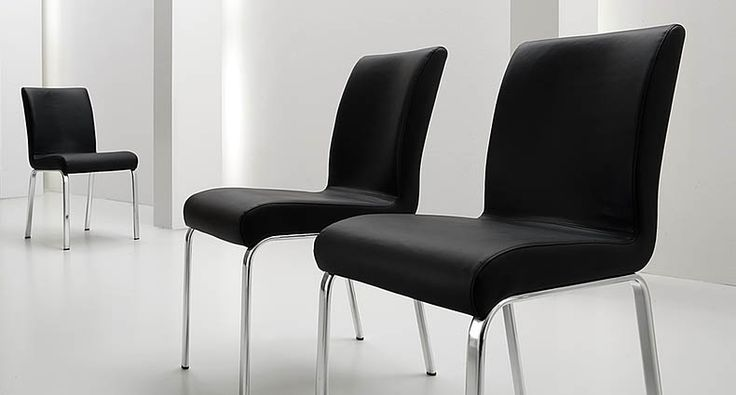 The Candess Dining Chair is a modern, contemporary Italian designer chair constructed with a chrome or aluminium lacquered metal frame and legs. The seat and backrest are finished in a wide variety of colours in either faux leather or soft split leather. £223.00