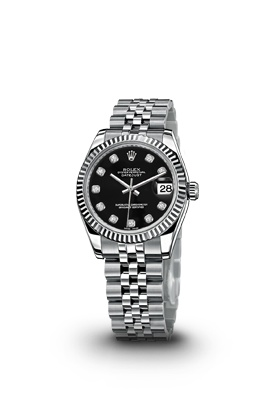 ROLEX DATEJUST LADY 31 WATCH - STEEL AND WHITE GOLD