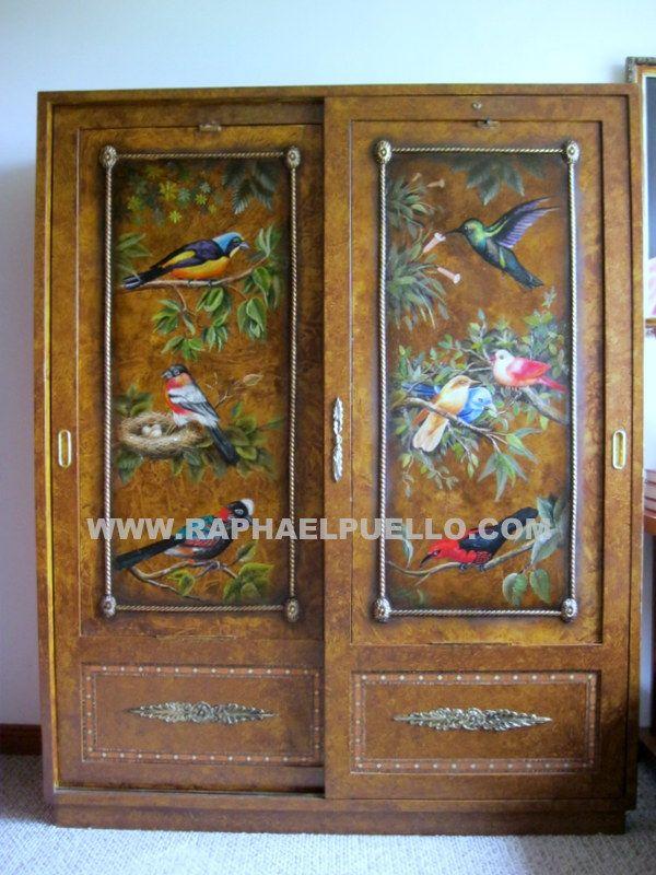 22 best furniture decoration decoraci n de muebles raphael - Armarios pintados a mano ...