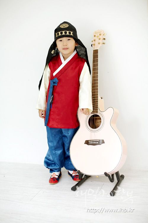 해밀아이 아동한복 (boy hanbok) 긴배자 - 자양민대청