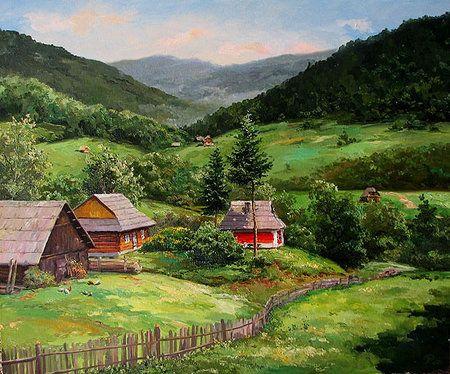Зеленые пейзажи. художник игорь ропяник