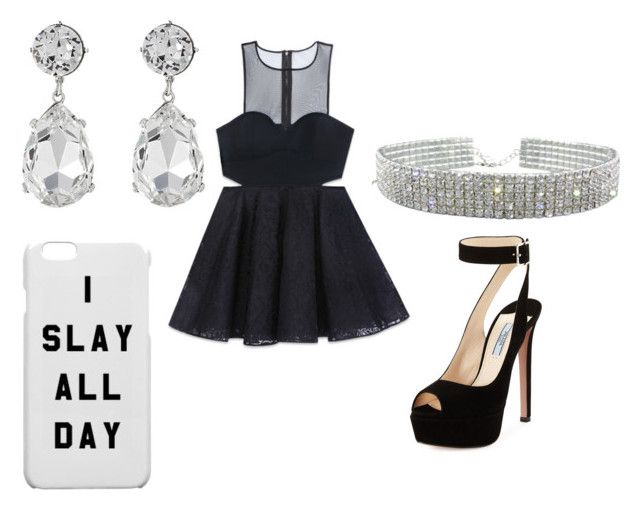 """""""Night Out 2 ♡"""" by isabellamateus on Polyvore featuring Bebe, Prada and Kenneth Jay Lane"""