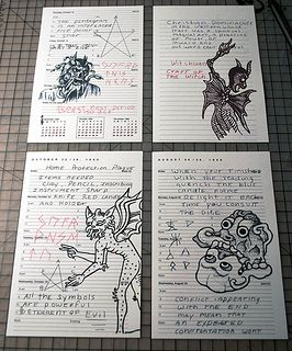 (Creating John Winchester's Journal) I'm pretty sure I've seen the bottom left one on American horror story