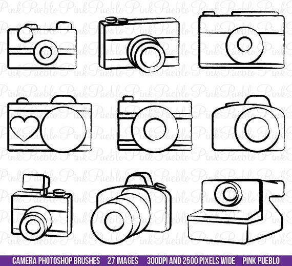Camera Photoshop Brushes, Photography Photoshop Brushes - Commercial and Personal Use
