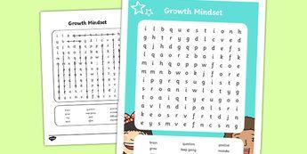 Growth Mindset Lower School Vocabulary Word Search-Australia