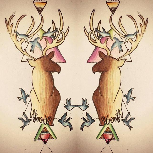 My tattoo design :) #draeing #art #draw #tattoo #design #tattoodesign #tattooartist #artist #deer #vintage #retro #geometric #nature #deerart #stag #ink #inkspiration #drawsofinsta #drawingoftheday #dailyart #sketchbook #art oil #inspiration #motivation