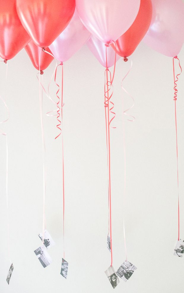 Balloon photo display for hen party