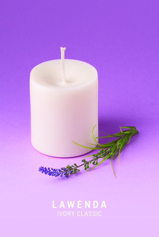 Naturalna świeca sojowa z dodatkiem lawendowego olejku eterycznego.