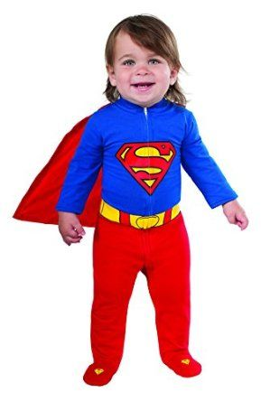 Rubie's Costume Baby's DC Comics Superhero Style Baby Superman Halloween Costume 2014, best suited for your baby for Halloween celebration.  Adorable costume, wasn't sure which size to get forly 5 month old (15 pounds), turns out we tried both and the 0-6 months fit perfectly. Very adorable costume! Can use as a sleeper also.