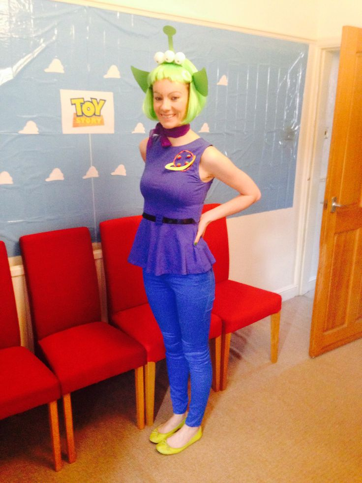 Toystory Alien costume. Hand made headband and top.