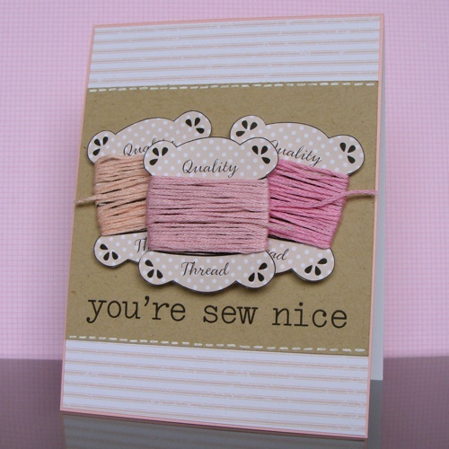 sew nice thank you card for crochet craft purchases