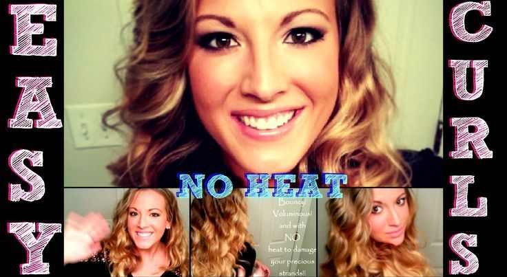 Fast, Easy Hairstyle: No Heat Curls! * HD * I do that basically every day for m ...