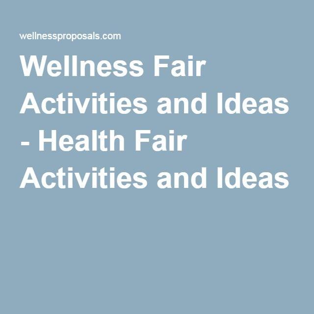 Wellness Fair Activities and Ideas - Health Fair Activities and Ideas