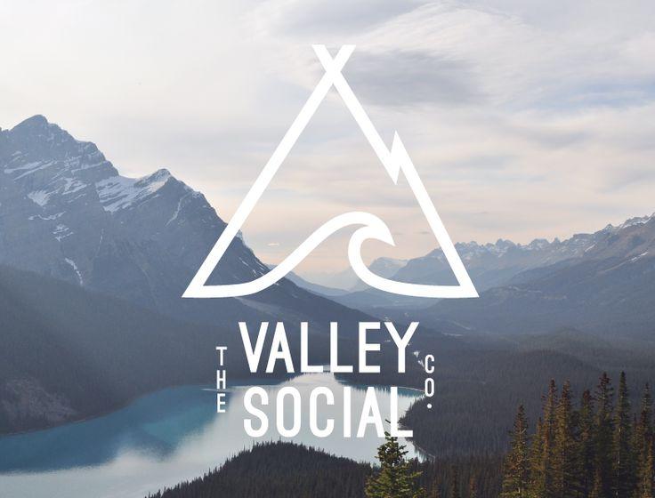 The Valley Social Co. logo design by 21B Creative