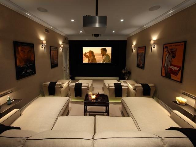 Comfy Home Theatre Fab Family Rooms Pinterest