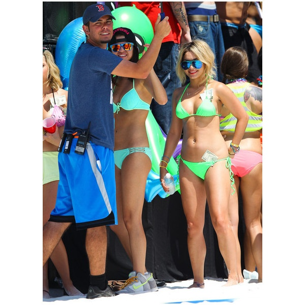 Ashley, Selena and James Franco Film 'Spring Breakers' ❤ liked on Polyvore