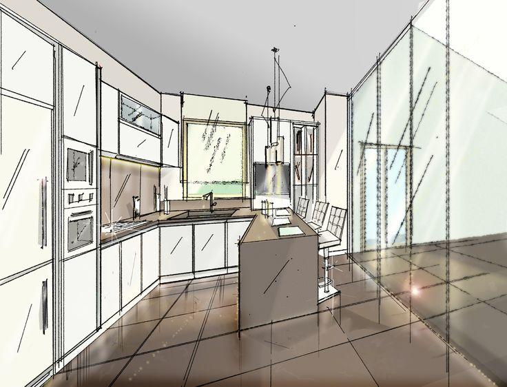 Cucina CU07_0001 Cucina componibile moderna, composizione angolare ...