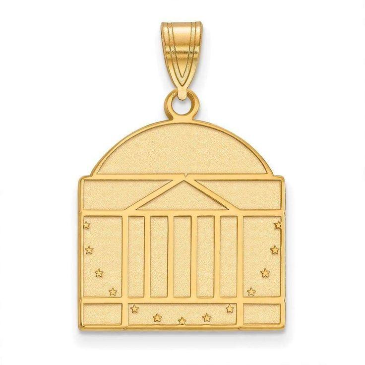 14ky LogoArt University of Virginia Large Pendant