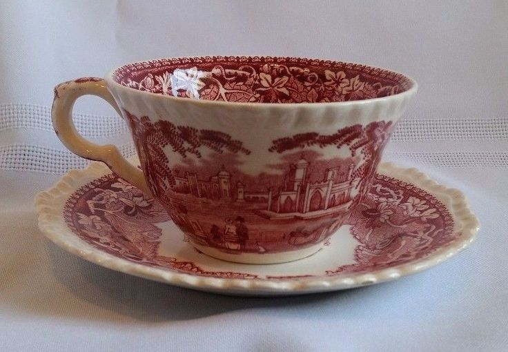 "MASON'S IRONSTONE CUP AND SAUCER - VISTA ENGLAND. Cup measures 4"" across and 2 1/2"" tall and the saucer is 5 3/4"". It is in very good condition, no chips, cracks or crazing. 