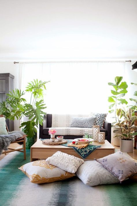 HOW TO STYLE A BOHEMIAN LIVING ROOM MAKEOVER Coco Kelley