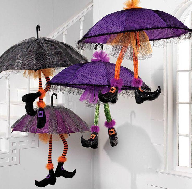 """RAZ 49"""" Umbrella Witch in Orange or Purple"""