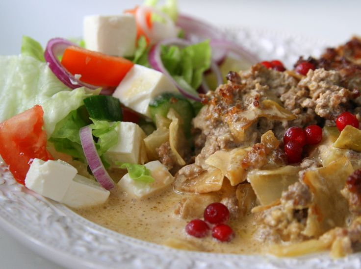 Kålpudding med gräddsås och lingon - Jennys Matblogg
