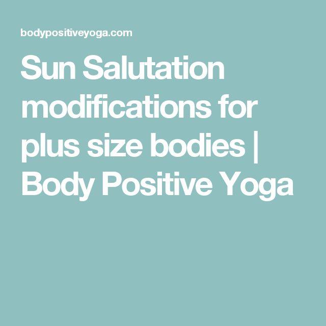 Sun Salutation modifications for plus size bodies | Body Positive Yoga