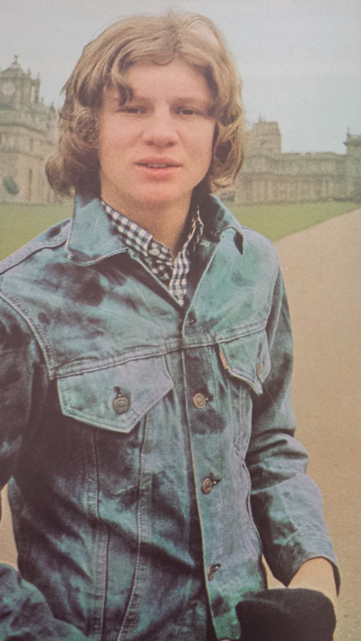 Peter Firth at Blenheim Palace, 1971