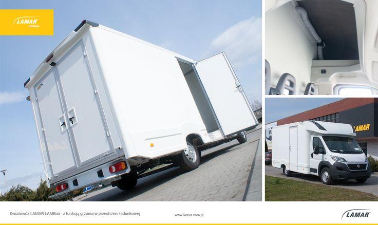 #LAMBox przystosowany do przewozu kwiatów tzw. Kwiatowóz. Wyposażony w ogrzewanie przestrzeni ładunkowej, ścianę grodziową oraz drzwi tylne dwuskrzydłowe z zamkiem. Więcej na temat zabudów niestandardowych LAMAR znajdziesz: http://lamar.com.pl/oferta/nadwozia-lambox/niestandardowe/