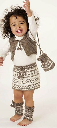 Ravelry: 52 Vest, Skirt, Leg Warmers & Bag pattern by Lana Grossa