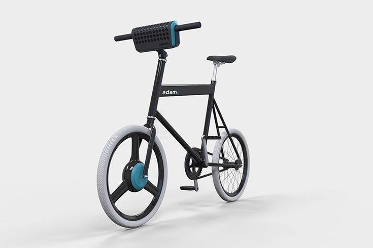 urban adam. e-bike concept includes detachable battery and speaker