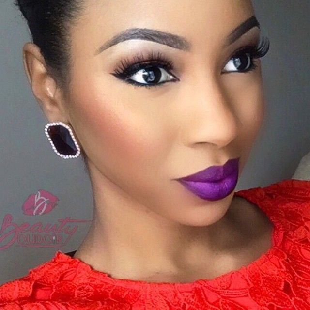 Gorgeous makeup; MAC's Heroine is the lipstick.