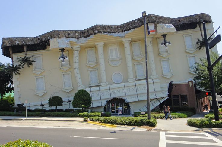 WonderWorks - the famous upside down house on International Drive in Orlando, Florida