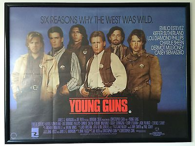 #Young guns 1988 #original british quad movie poster #emilio estevez charlie shee,  View more on the LINK: http://www.zeppy.io/product/gb/2/201464521947/