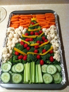 got this great idea for our veggie tray from pinterest!